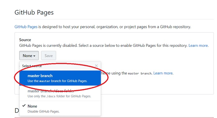 How to - come abilitare una web page su un repository di GitHub 03