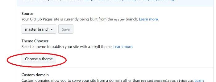 How to - come aggiungete un tema ad una web page di GitHub - 01