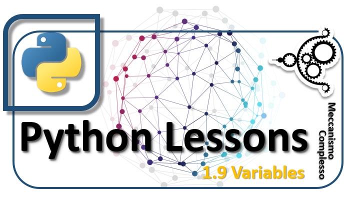 Pyhton Lessons - 1.9 Variables