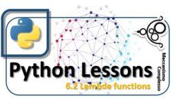 Python Lesson - 6.2 Lambda functions m