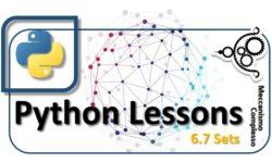 Python Lesson - 6.7 Sets m