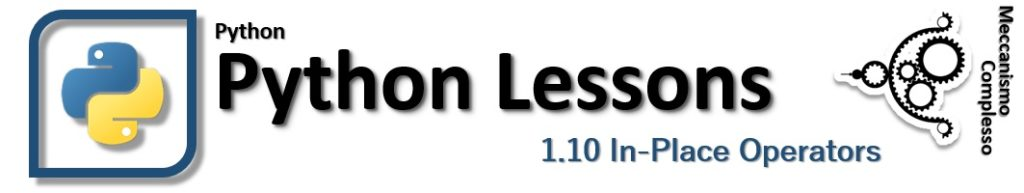 Python Lessons - 1.10 In-place operators