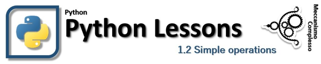 Python Lessons - 1.2 Simple operations
