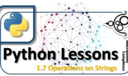 Python Lessons - 1.7 Operations on strings