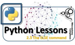 Python Lessons - 2.3 The ELSE command m