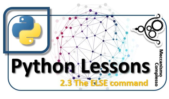 Python Lessons - 2.3 The ELSE command m