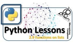 Python Lessons - 2.9 Functions on lists m