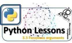 Python Lessons - 3.3 Functions arguments m