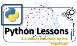 Python Lessons - 3.4 Values returned by the functions m