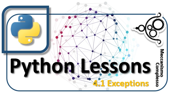 Python Lessons - 4.1 Exceptions m