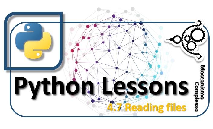 Python Lessons - 4.7 Reading files m