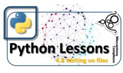 Python Lessons - 4.8 Writing on files m