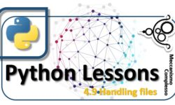 Python Lessons - 4.9 Handling files