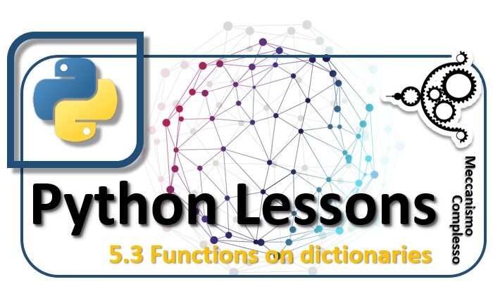 Python Lessons - 5.3 Funtions on dictionaries m