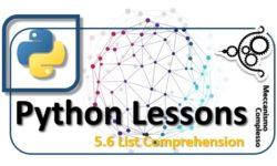 Python Lessons - 5.6 List comprehension m