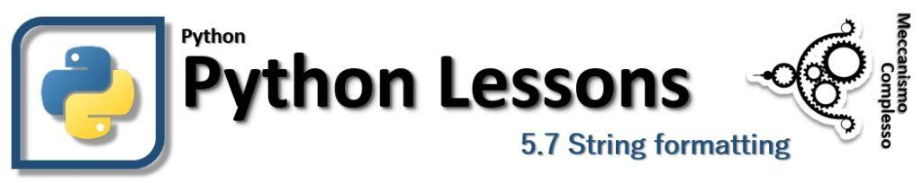 Python Lessons - 5.7 String formatting
