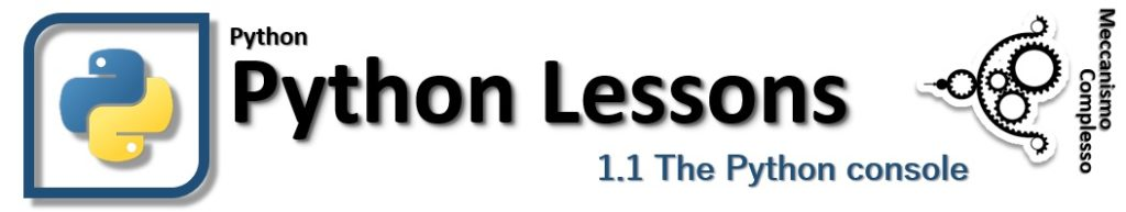Python lessons - 1.1 The Python console