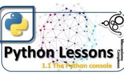 Python lessons - 1.1 The Python console m