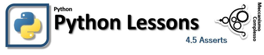 Python lessons - 4.5 Asserts