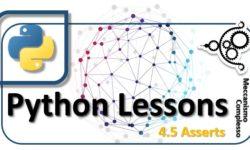 Python lessons - 4.5 Asserts m