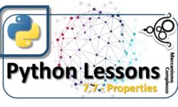 Python lessons - 7.7 properties