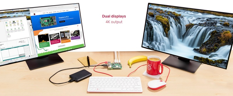 Raspberry Pi 4 - Dual displays