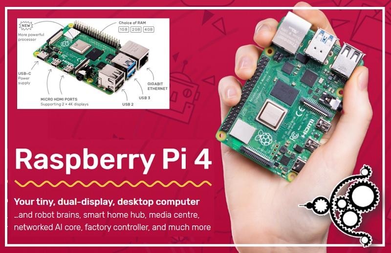 Raspberry Pi 4 - la quarta versione della scheda