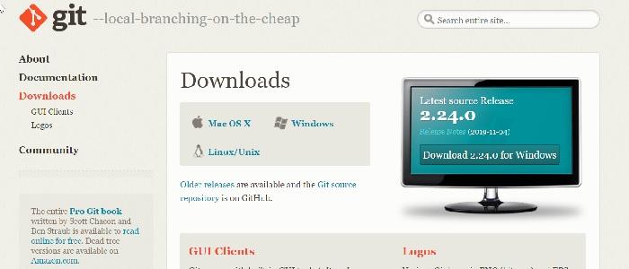 Git SCM sito