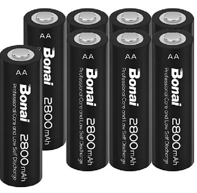 batterie stilo ricaricabili AA