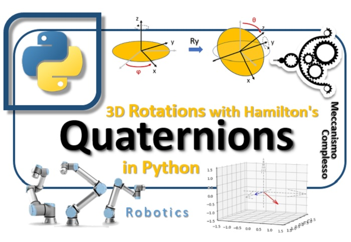 Hamilton's quaternions and 3D rotation with Python