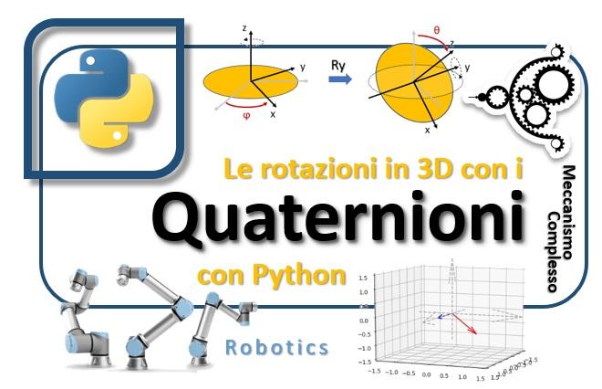 I quaternioni e la rotazione in 3D con Python