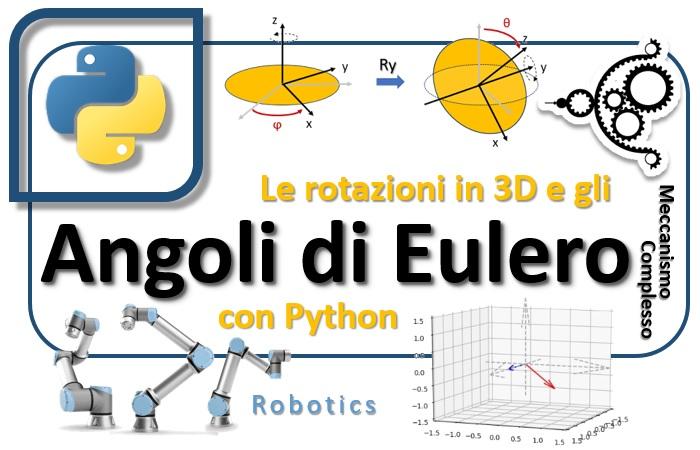 Le rotazioni in 3D e gli Angoli di Eulero con Python