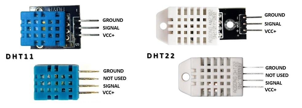 Sensori-DHT11 e DHT22