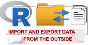 R - import and export data from the outside