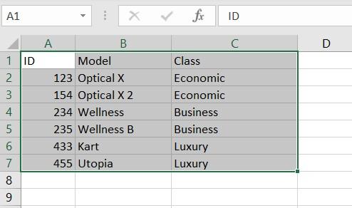 R - ottenere dati dall'esterno - tabella excel